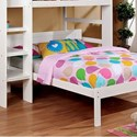 FUSA Annemarie Twin Bed - Item Number: CM-BK965WH-T-BED