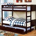 FUSA Annette Full over Full Bunk Bed - Item Number: CM-BK619F-EX-BED+TR452-EXP