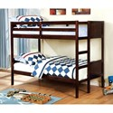 FUSA Annette Full over Full Bunk Bed - Item Number: CM-BK619F-EX-BED