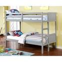 FUSA Annette Full over Full Bunk Bed - Item Number: CM-BK619F-GY-BED