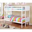 FUSA Annette Twin over Twin Bunk Bed - Item Number: CM-BK619T-WH-BED