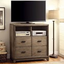 Furniture of America Antler Media Chest - Item Number: CM7615TV