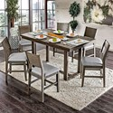 FUSA Anton II 7 Pc Counter Height Dining Set - Item Number: CM3986PT-7PC