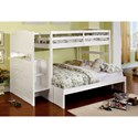 Furniture of America Appenzell Twin/Full Bunk Bed - Item Number: CM-BK922F-BED