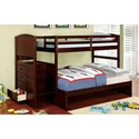 FUSA Appenzell Twin/Full Bunk Bed - Item Number: CM-BK922F-EX-BED