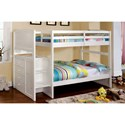 FUSA Appenzell Twin/Twin Bunk Bed - Item Number: CM-BK922T-BED