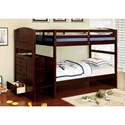 FUSA Appenzell Twin/Twin Bunk Bed - Item Number: CM-BK922T-EX-BED
