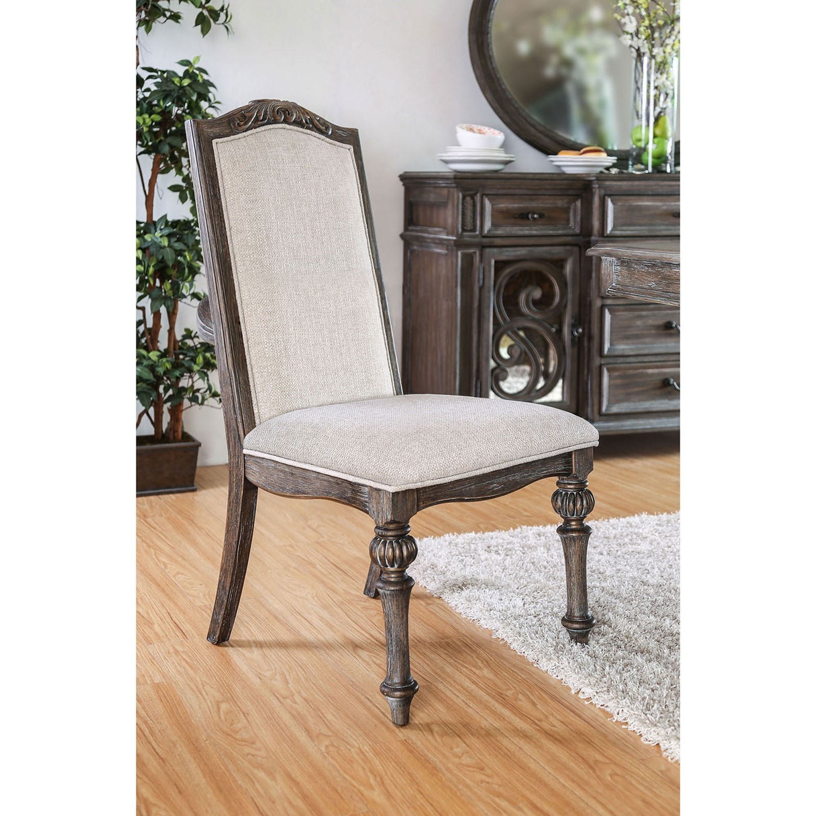 Furniture Of America Arcadia Set Of 2 Side Chairs With Traditional