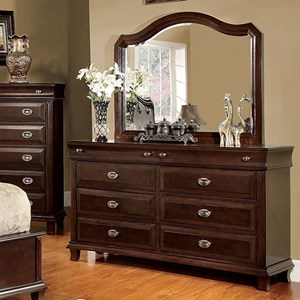 Furniture of America Arden Dresser & Mirror Set