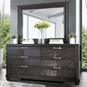 FUSA Argyros Dresser and Mirror Set - Item Number: CM7315D+M