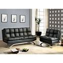 FUSA Aristo Futon Sofa + Chair - Item Number: CM2906BK-2PC