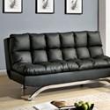 FUSA Aristo Leatherette Futon Sofa - Item Number: CM2906BK