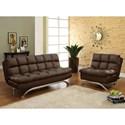 FUSA Aristo Futon Sofa + Chair - Item Number: CM2906DK-2PC