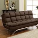 FUSA Aristo Leatherette Futon Sofa - Item Number: CM2906DK