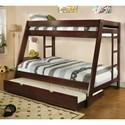 FUSA Arizona Twin/Full Bunk Bed - Item Number: CM-BK358EXP-BED