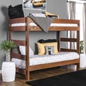 Furniture of America Arlette Twin/Twin Bunk Bed - Item Number: AM-BK100-BED