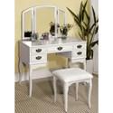 FUSA Ashland Vanity Table - Item Number: CM-DK6405WH