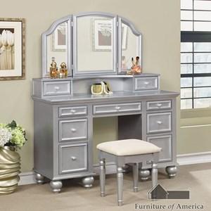Furniture of America Athy Vanity w/ Stool,