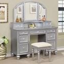 Furniture of America Athy Vanity w/ Stool - Item Number: CM-DK6848SV