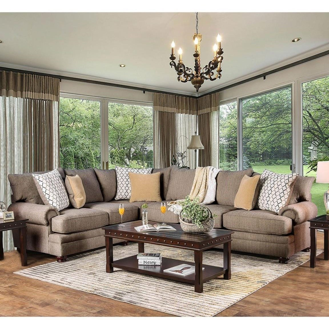Home Furniture For Less: Furniture Of America Augustina L-Shaped Transitional