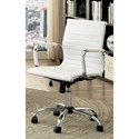 Furniture of America Avondale Low Back Office Chair - Item Number: CM-FC628S-WH