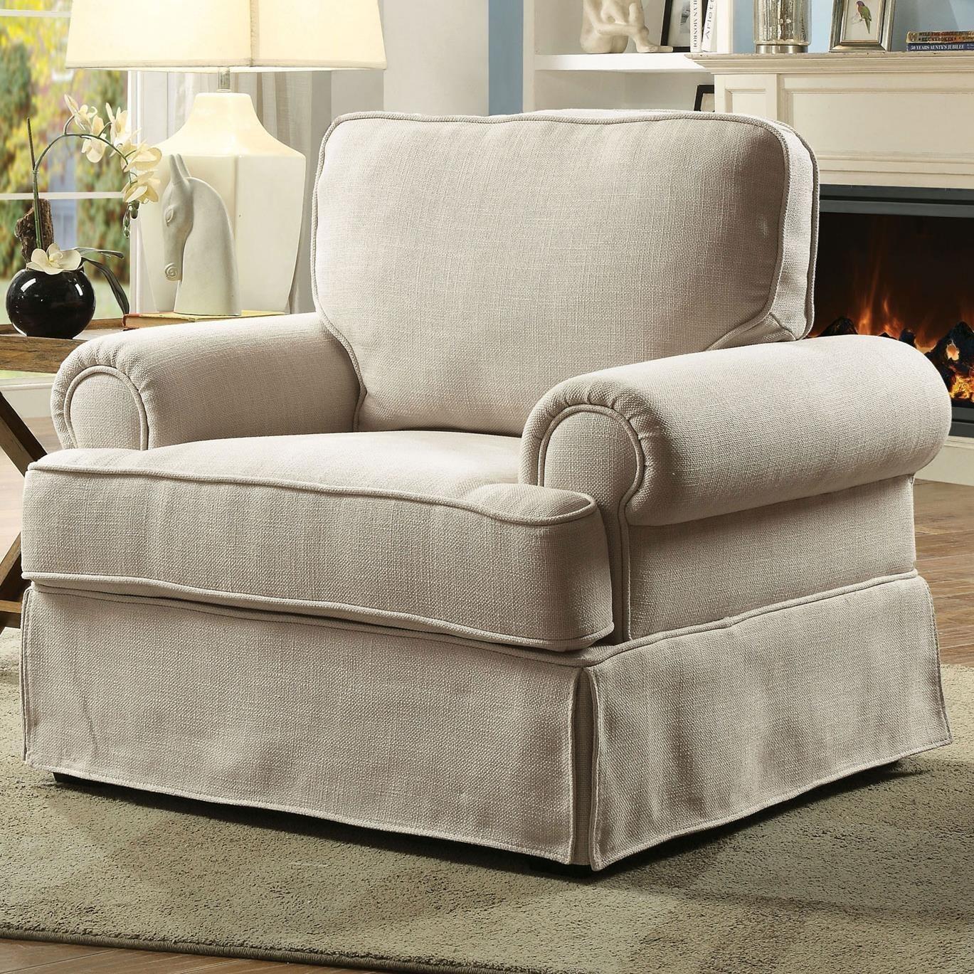 Furniture of America Badalona I Casual Skirted Chair | Rooms ...