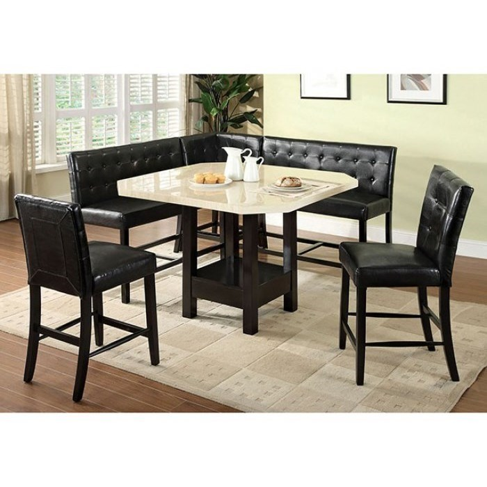 Counter Height Table, Chair and Bench Set