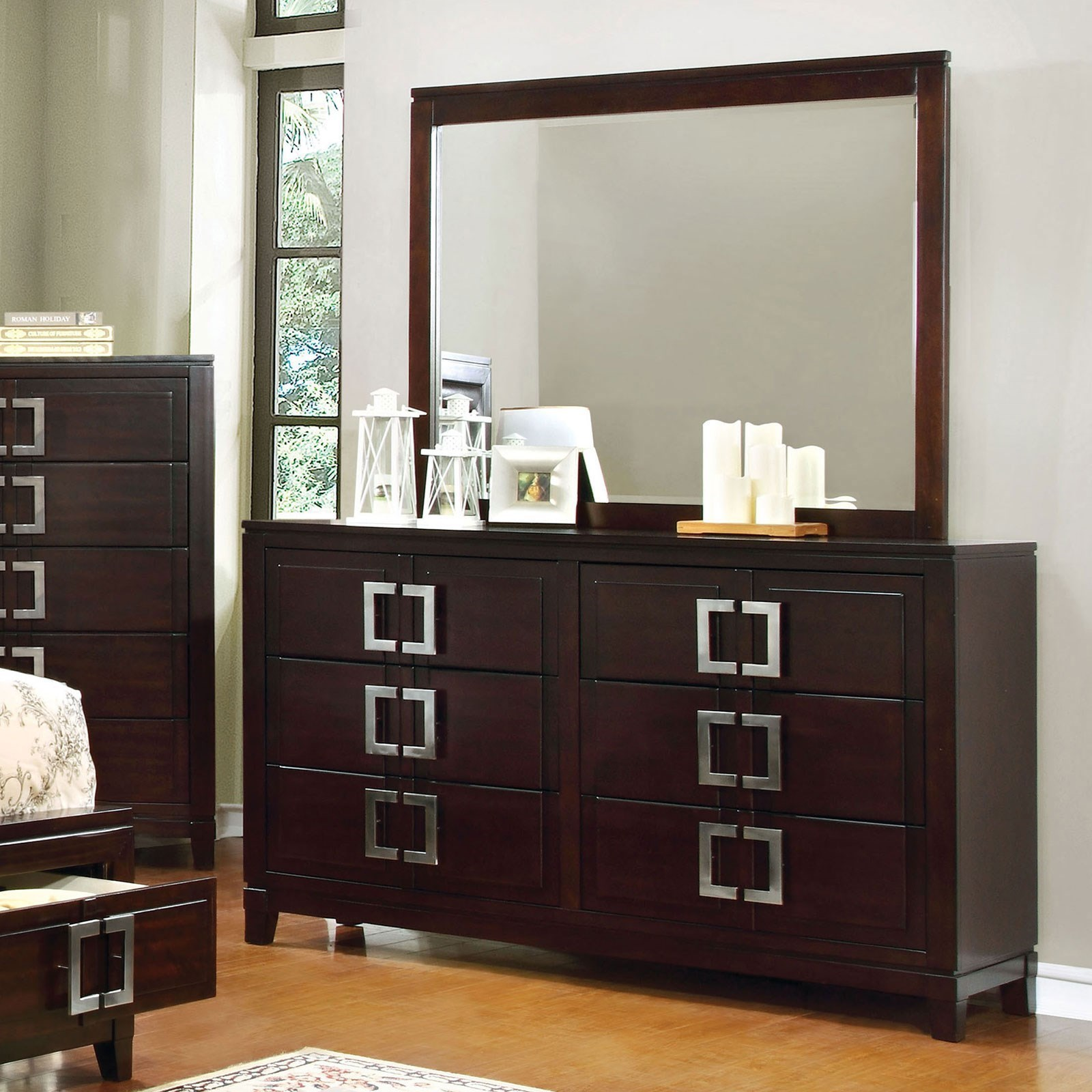 Balfour Dresser and Mirror Combination at Household Furniture