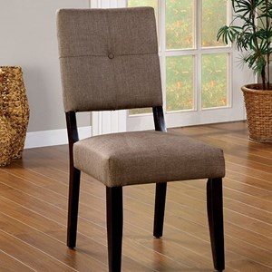 Furniture of America Bay Side I Side Chair (2/CTN)