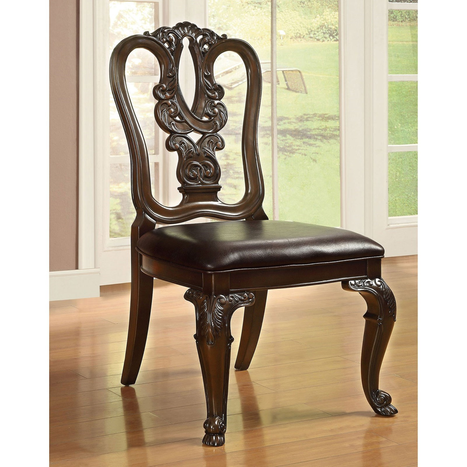 Bellagio Set of 2 Wood Side Chairs at Household Furniture