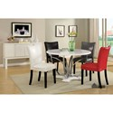 Furniture of America Belliz Table + 4 Chairs (Black, Or Red) - Item Number: CM3177WH-T-5PC