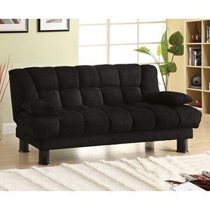 Furniture Of America Bonifa Elephant Skin Microfiber Futon Sofa