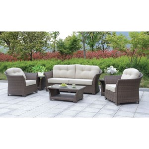 Outdoor Chat Set w/ 3 Tables