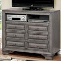 Furniture of America Brandt Media Chest - Item Number: CM7302GY-TV