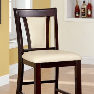 Furniture of America Brent II Counter Ht. Chair (2/Ctn)