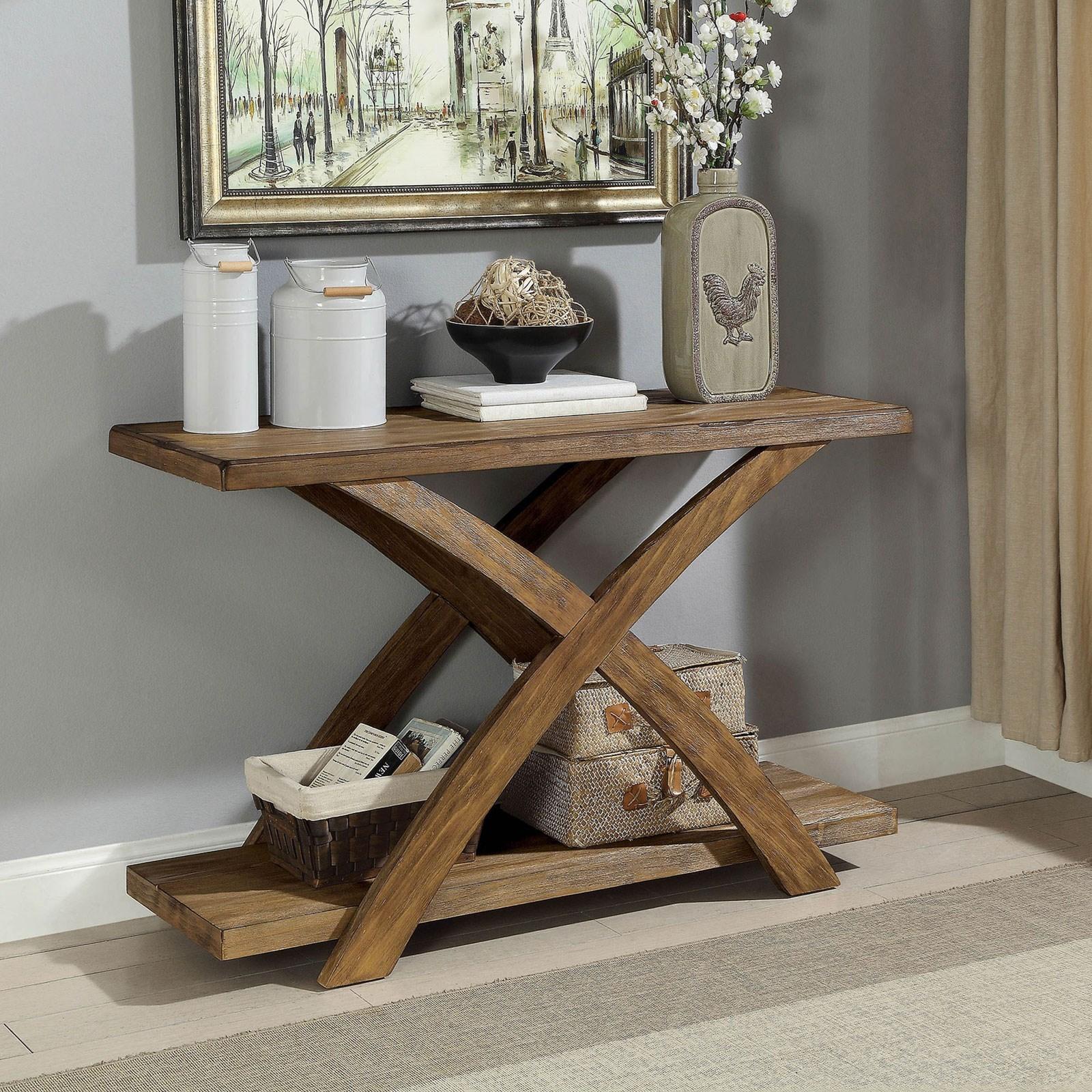 Furniture Of America Bryanna Rustic Sofa Table