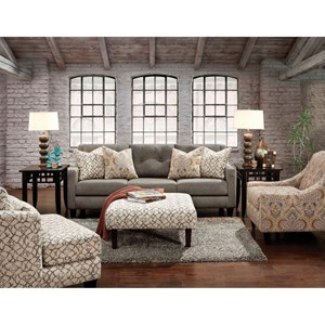 Furniture of America Burlon Sofa and Love Seat