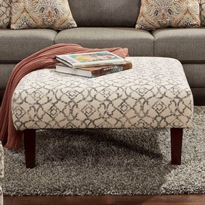 Furniture of America Burlon Ottoman