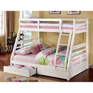 Twin/Full Bunk Bed w/ 2 Drawers *Bunkie Boar