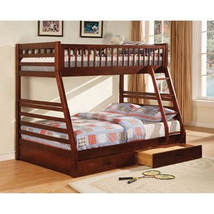 Furniture of America California II Twin/Full Bunk Bed W/ 2 Drawers