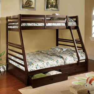 Twin-over-Full Bunk Bed with 2 Drawers