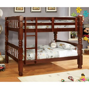 Furniture of America Carolina Twin/Twin Bunk Bed