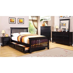 Twin Bed and 1NS and Dresser and Mirror