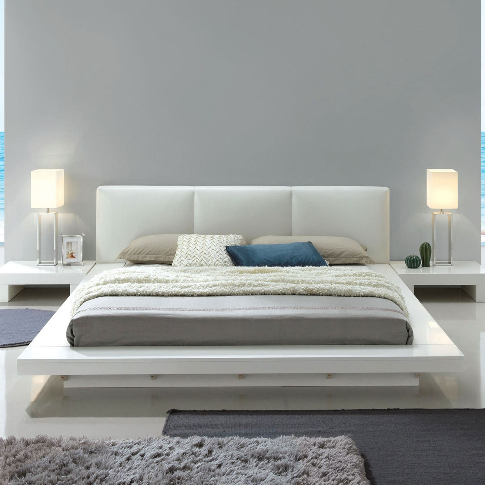 Furniture Of America Christie Cm7540wh Q Bed Contemporary