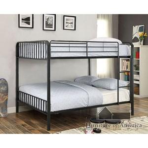 Furniture of America Clement Metal Full/Full Bunk Bed