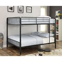 Furniture of America Clement Metal Full/Full Bunk Bed - Item Number: CM-BK928FF-BED
