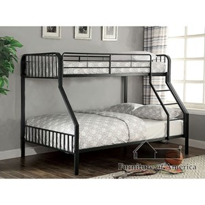 Furniture Of America Clement Metal Twintwin Bunk Bed Rooms For