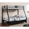 Furniture of America Clifton Twin over Full Bunk Bed - Item Number: CM-BK1022