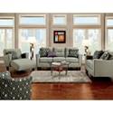 Furniture of America Coltrane Sofa and Love Seat - Item Number: SM8210-2PC