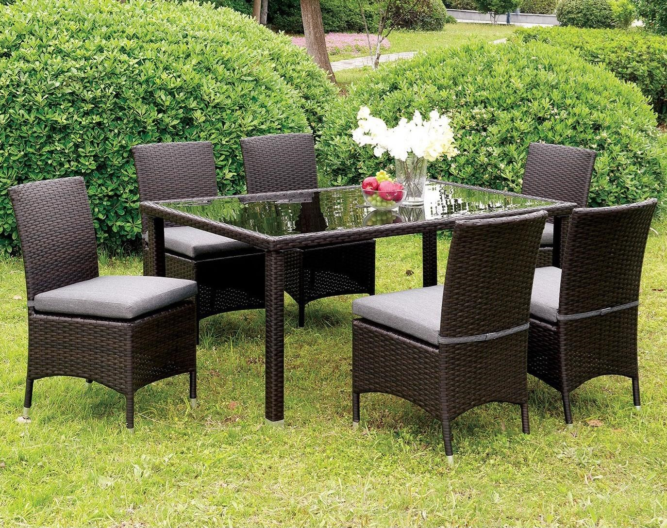 Furniture Of America Comidore 7 Piece Outdoor All Weather Wicker